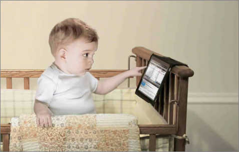Etrade Baby with Tablet