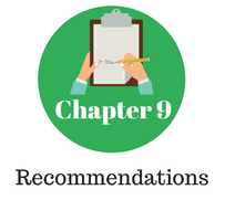 Chapter 9 - Recommendations