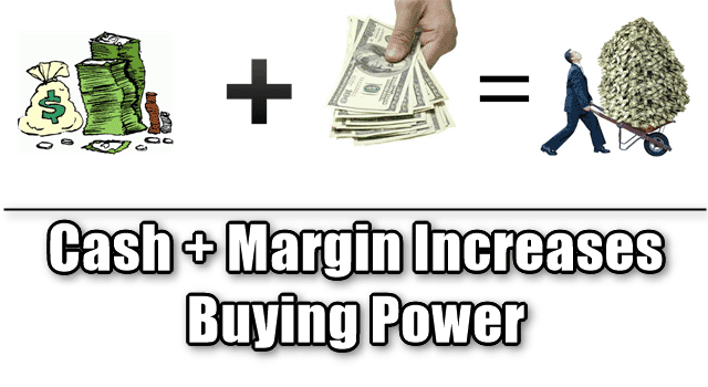cash + margin and buying power