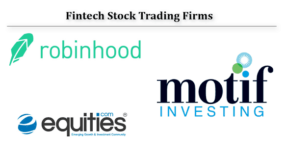 Fintech Stock Trading firms disrupting traditional models of trading commissions -fees