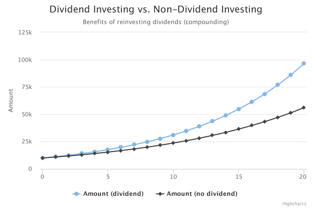dividend investing vs non-dividend investing