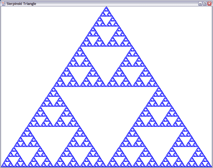 Example of fractal geometry – The Sierpinski Triangle