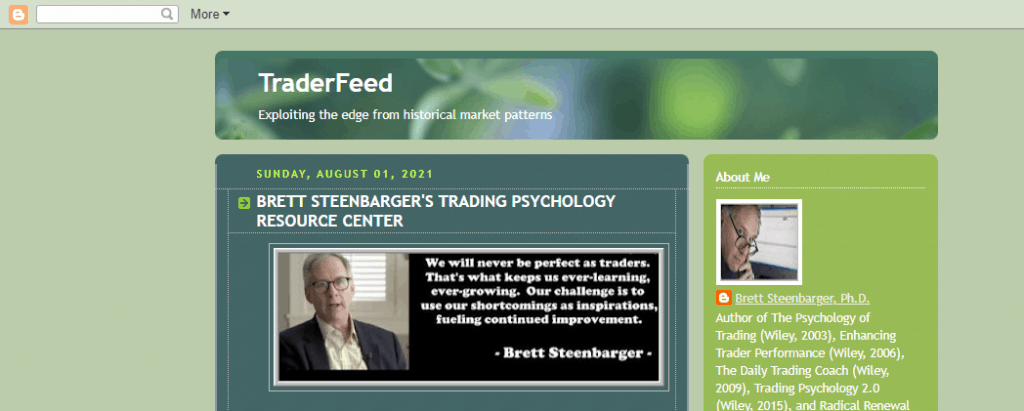 Dr. Steenbarger's Homepage Helps with Mindset habits affecting our trading performance